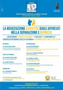 Sede di Reggio Calabria - La negoziazione assistita dagli avocati nella separazione e divorzio
