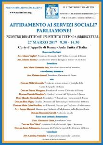 Sede di Roma - Affidamento ai servizi sociali? Parliamone! Incontro-dibattito su un istituto tutto da (ri)discutere