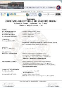 Sede di Taranto - Crisi familiare e tutela dei soggetti deboli